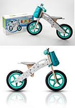 Велобег, беговел KinderKraft RUNNER +AKCE деревянный, 2 цвета, фото 2