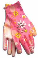 Перчатки рабочие-4548 трикот. с полиурет. покрыт, розовые, неполн. облив, 8 размер Doloni