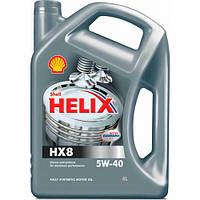 Автомобильное моторное масло синтетическое Shell Helix HX8 5W40 4L