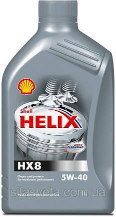Автомобильное моторное масло синтетическое Shell Helix HX8 5W40 1L