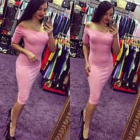 Платье женское Бархат розовое , недорогие платья