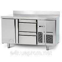 Холодильный стол (SN325) - с 1 дверью и 2 ящиками 1/2 с задним бортом