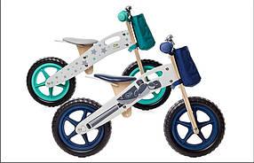 Велобег, беговел KinderKraft RUNNER +AKCE деревянный, 2 цвета