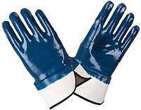 Перчатки рабочие-851 нитриловые,полное покрытие,гладкие(манжеты- краги), 10 размер Doloni