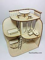 """Кукольный домик """"Диана"""" с мебелью для Pony, Winx (mini), Steffi, Evi (12 см), фото 1"""