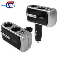 Автоадаптер USB + двойник прикуривателя
