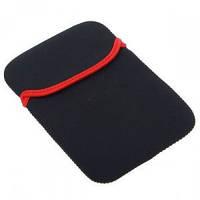"Чехол для планшета 9,7"" @LUX™ 991  Black+Red (ДВУХсторонний) НЕОПРЕН, разм: 26*19см, SoftPack (подходит под модели Luxp@d 9,7"")"