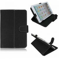 """Обкладинка-Чохол-Підставка для планшета 7"""" @LUX TL-471 прес-Шкіра, колір: чорний/білий (вн: чорний), розмір:"""