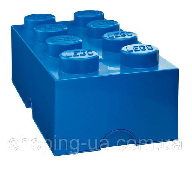Восьми точечный синий контейнер для хранения Lego PlastTeam 40041731