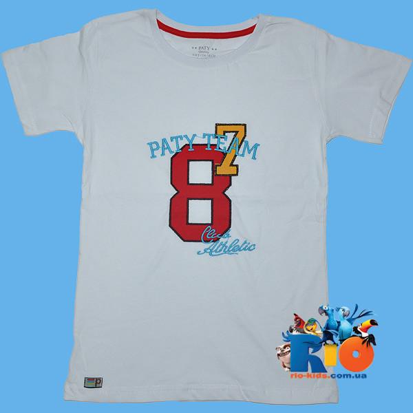 """Детская футболка """"Paty Team"""" , из трикотажа , для мальчиков (рост 86-134 см)"""