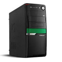 Компьютерный корпус CROWN CMC-SM160 BlackGreen - Серия Smart с блоком питания 450W Smart