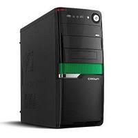 Компьютерный корпус CROWN CMC-SM160 BlackGreen - Серия Smart с блоком питания 500W Smart