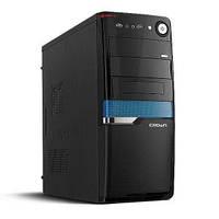 Компьютерный корпус CROWN CMC-SM160 BlackBlue - Серия Smart с блоком питания 450W Smart