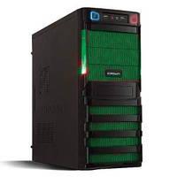 Компьютерный корпус CROWN CMC-SM162 BlackGreen - Серия Smart с блоком питания 500W Smart