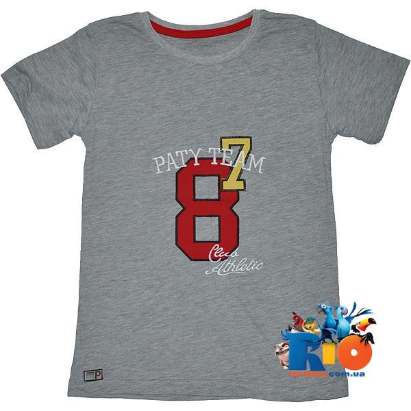 "Летняя футболка ""Paty Team"" , из трикотажа , для мальчика (рост 86-134 см)"