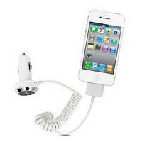 Автомобильное зарядное устройство для iPhone CMCC-8330   (Для iPod iPhone и iPad.  Сила тока: 1A. Входное напряжение:12-24V)