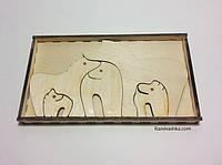 """Подарочный набор в коробке - пазл  """"Семья Лошадок"""" (под роспись, декупаж)"""