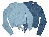 Джинсовая рубашка для девочек, Glostory, размеры 152. арт. 7982, фото 1