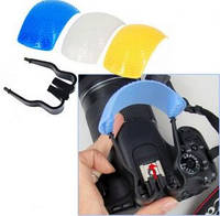 Рассеиватель для вспышки зеркальной камеры 3в1