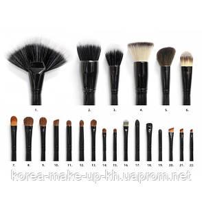Набор кистей в чехле 22 шт.Coastal Scents Professional Cosmetic Brushes, фото 2