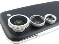 Универсальный объектив 3 в 1 для мобильного телефона