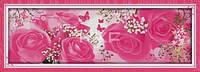"""Набор для вышивки крестом  """"Любовное насторение(5)(Розовая элегантность) """""""