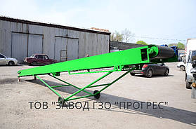 Длина транспортера составляет 8 метров. Установлены боковые накладки для жесткости фермы в целом, увеличивает срок службы конвейера.
