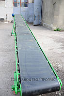 На транспортере установлена лента шириной 650мм.