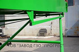 Механизм упора регулировки по высоте на подшипниковых узлах. На данном транспортере установлена механическая лебедка для регулировки угла наклона от 1500мм до 3500мм.