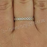 "Серебряное кольцо с цирконами ""Монреаль"", фото 1"