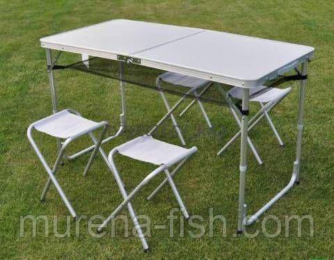 Туристический набор складной стол + 4 стула (Днепр) оригинальный, фото 2