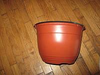 Кашпо Теку 2.5 литра с подвесом теракот