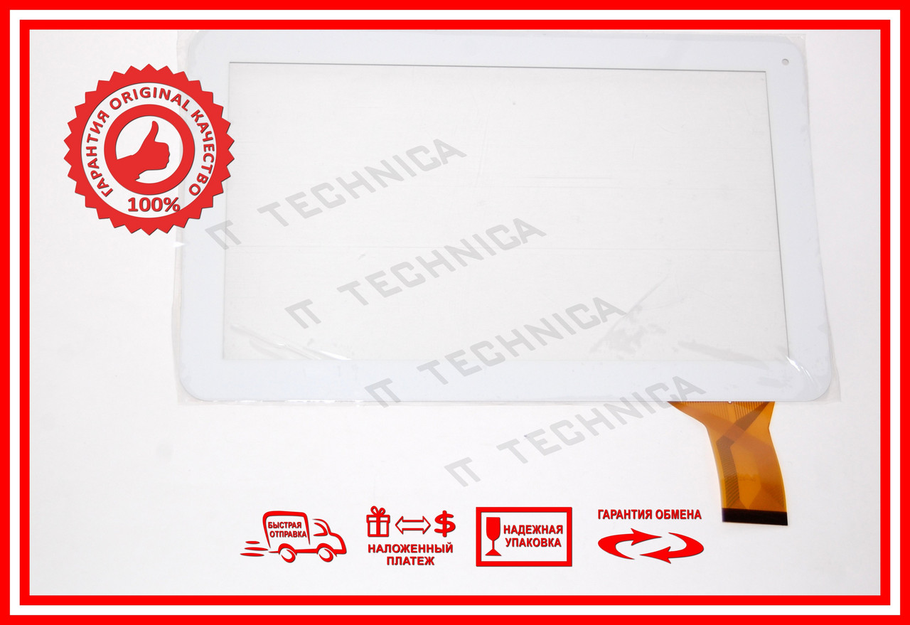Тачскрін 257x159mm 50pin DH-1007A1-FPC033 БІЛИЙ