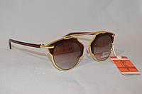 Солнцезащитные очки женские DIOR коричневый глянец
