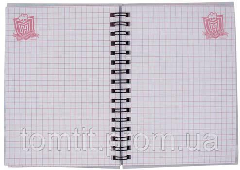 Блокнот на спирали «Monster High» (на спирали), формат А-6, 80 листов, фото 2