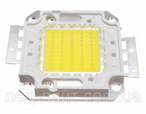 Мощный светодиод 50Вт COB(квадрат) белый (холод.)