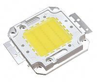 Мощный светодиод 30Вт COB(квадрат) белый (холод.)