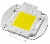 Мощный светодиод 100Ватт COB(квадрат) белый (холод.)