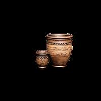 Стакан глиняный Шляхтянский AF15 Покутская керамика