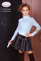 Гольф вязаный для девочки Baby Angel 228в, цвет молочный