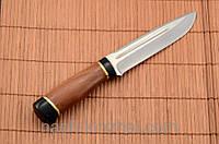 Нож охотничий с рукоятью из Красного дерева с кожаным чехлом + эксклюзивные фото, фото 1