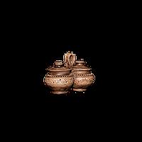 Набор для специй Пара глиняная с крышками Шляхтянская AG1322 Покутская керамика