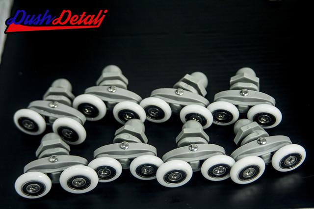Комплект роликов душевого бокса двойные серые В 27 В