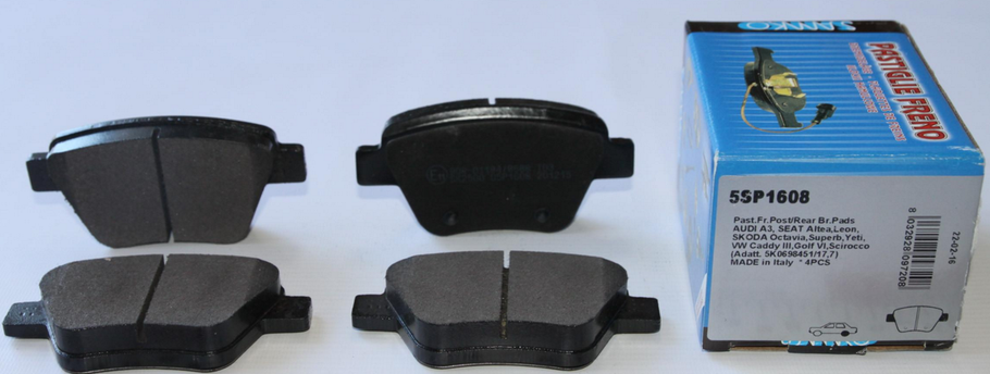 Колодки тормозные зад. VW Caddy 10- (109.3x53.4), фото 2