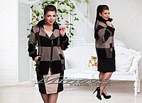 Курточка демисезонная женская с вставками кожи