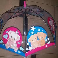 Зонт детский прозрачный  мишки