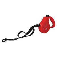 Collar Control М поводок-рулетка красная для собак до 20кг, 5м