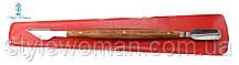Лопаточка для кутикулы с деревянной ручкой