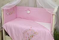Защита в детскую кроватку, бортики в кроватку Радуга