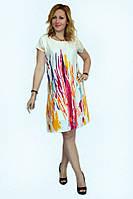 Красочное летнее женское платье